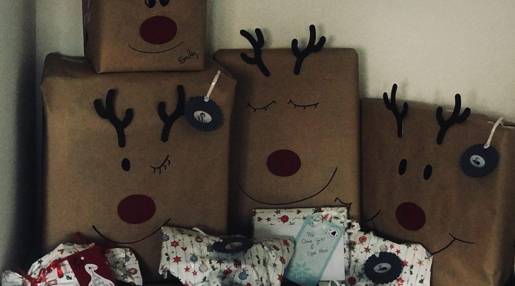 4. Advent: Geschenke und Rentierverpackung